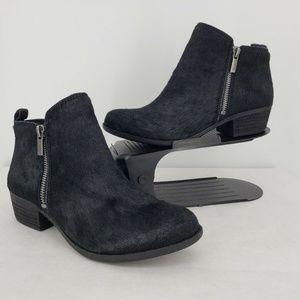 NWoB Lucky Brand Black Calf Hair Ankle Boots Sz 7
